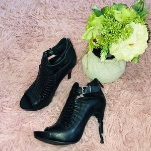 BCBGeneration Black Heels with Buckles